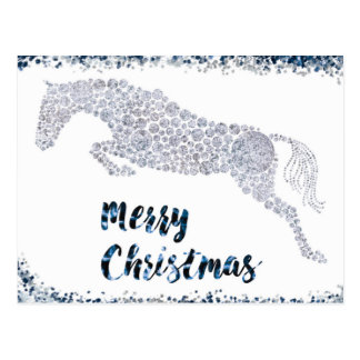 Merry Christmas Silver Jumper Holiday Postcard