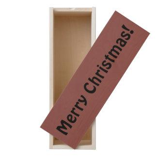 Merry Christmas simple brick red birch box