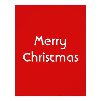 Merry Christmas Simple Design Red White Custom Custom Flyer