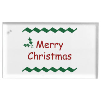merry christmas simple festive design place card holder