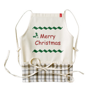 Merry Christmas Simple Festive Design Zazzle HEART Apron