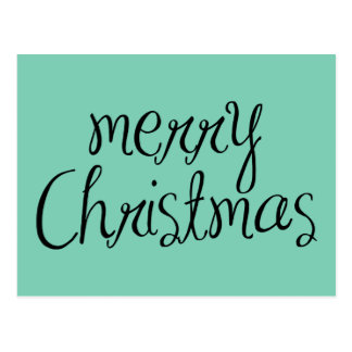 Merry Christmas - simple Handwritten Text Design Postcard