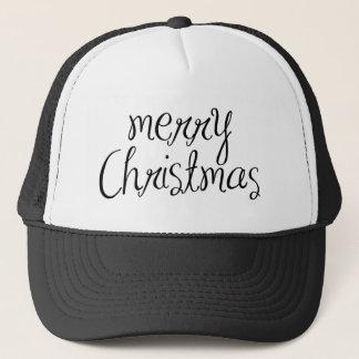Merry Christmas - simple Handwritten Text Design Trucker Hat