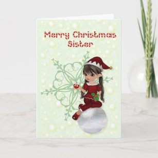 Merry Christmas Sister.Merry Sister Christmas Cards Zazzle