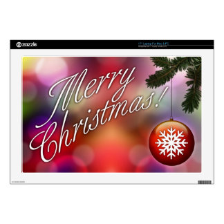 """Merry Christmas Decal For 17"""" Laptop"""