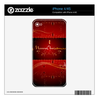 Merry Christmas Skin For The iPhone 4S