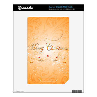 Merry Christmas NOOK Color Decals