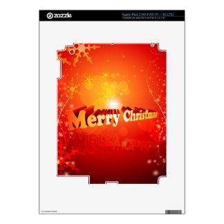 Merry christmas iPad 3 decal