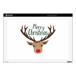 """Merry Christmas Skins For 17"""" Laptops"""