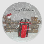 Merry Christmas Sled Sticker