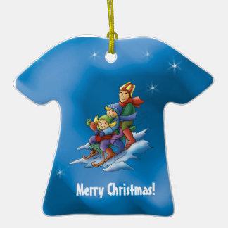 Merry Christmas! - Sleighing kids Ornament
