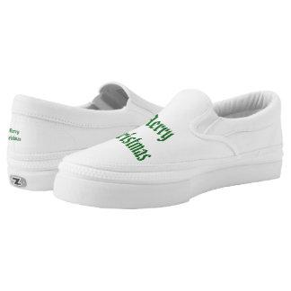 Merry Christmas Slip-On Sneakers