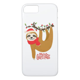 Merry Christmas Sloth | Holidays iPhone 8/7 Case