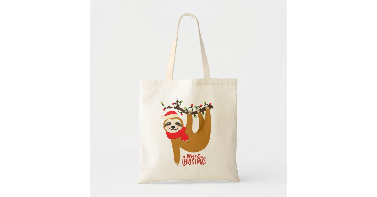 Merry Christmas Stag Tote Bag 100/% Cotton Custom Design Shopping Gift