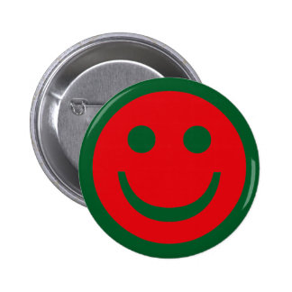 Merry Christmas Smiley 2 Inch Round Button