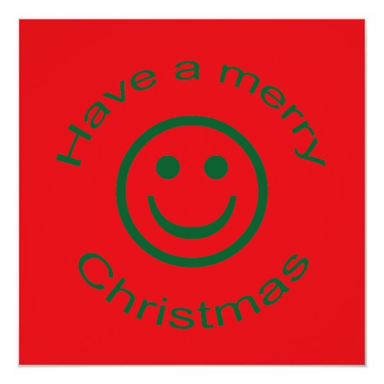 Merry Christmas Smiley Card