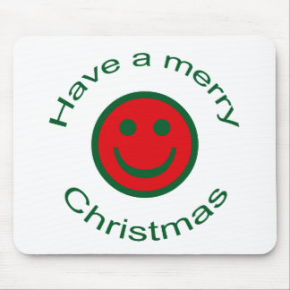 Merry Christmas Smiley Mouse Pad