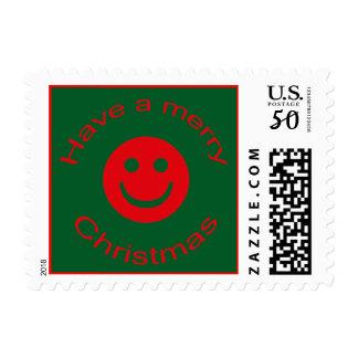 Merry Christmas Smiley Postage
