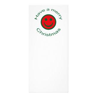Merry Christmas Smiley Rack Card