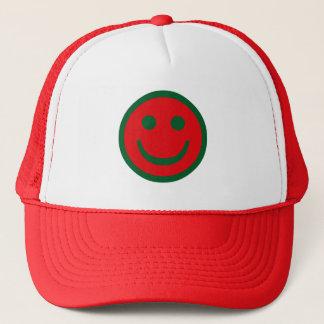 Merry Christmas Smiley Trucker Hat