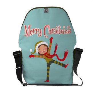 Merry Christmas Snow Angel Girl Courier Bags
