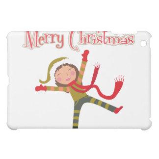 Merry Christmas Snow Angel Girl Cover For The iPad Mini