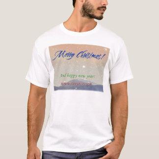 Merry Christmas - snow-border T shirt