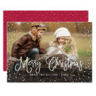 Merry Christmas Snow Card