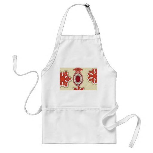 Merry Christmas Snow Flakes Adult Apron
