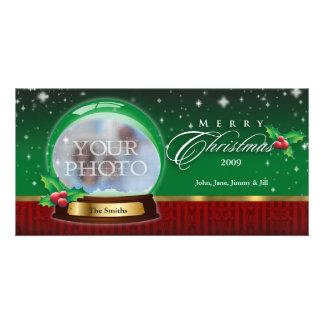 Merry Christmas Snow Globe Customizable Card