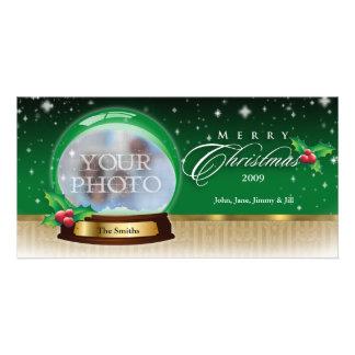 Merry Christmas Snow Globe Customizable GB Card