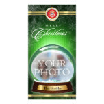 Merry Christmas  Snow Globe Personalized Photo Card