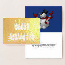 Merry Christmas Snow People Font and Verse, ZAtoZ Foil Card