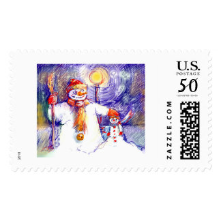Merry christmas* Snow Puppet * Postage