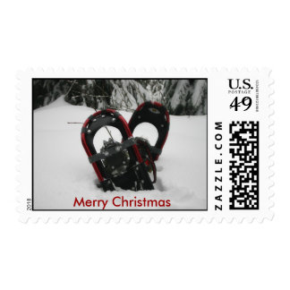 Merry Christmas Snow Shoe Postage