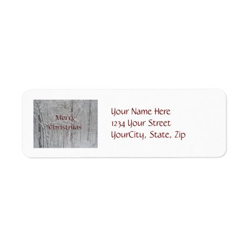 Merry Christmas Snow Storm Coordinating Items Label