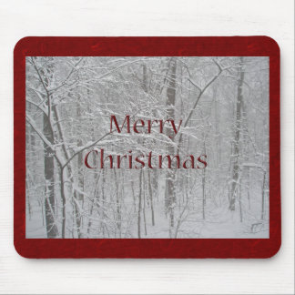 Merry Christmas Snow Storm Coordinating Items Mouse Pad