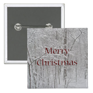 Merry Christmas Snow Storm Coordinating Items Pinback Button