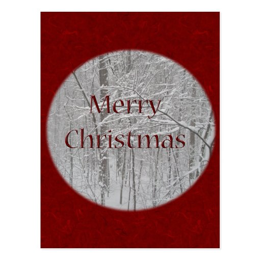 Merry Christmas Snow Storm Coordinating Items Post Cards