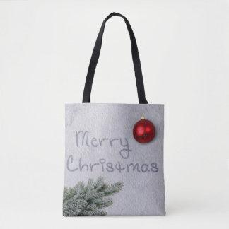 Merry Christmas Snow Writing - All-Over-Print Bag