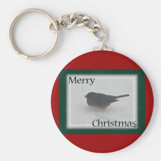 Merry Christmas Snowbird Coordinating Items Keychain