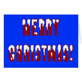 Merry Christmas Snowcap Fonts Card
