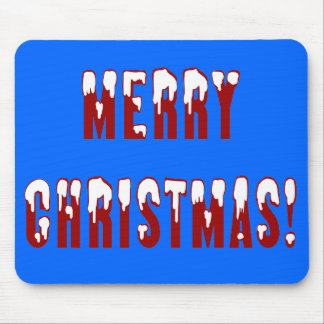 Merry Christmas Snowcap Fonts Mouse Pad