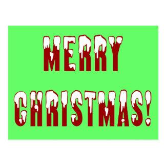 Merry Christmas Snowcap Fonts Post Cards