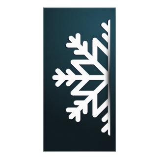 Merry Christmas Snowflake Blue Card