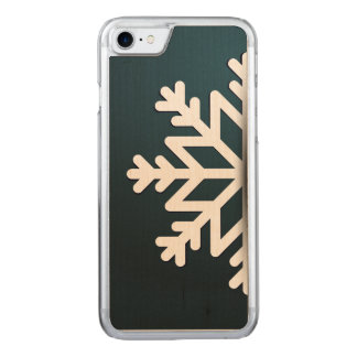 Merry Christmas Snowflake Blue Carved iPhone 8/7 Case