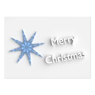 Merry Christmas - Snowflake -  Business Card