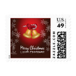 Merry Christmas Snowflake Candy Cane Bells Postage