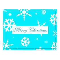 Merry Christmas Snowflake Design Postcard