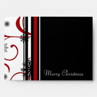 Merry Christmas Snowflake Envelopes